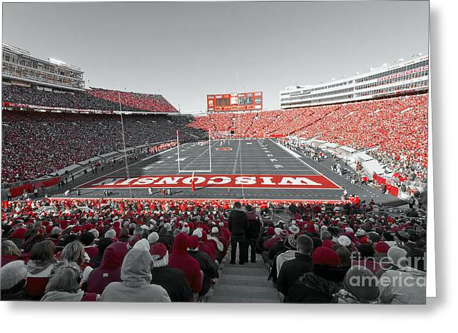 0096 Badger Football Greeting Card