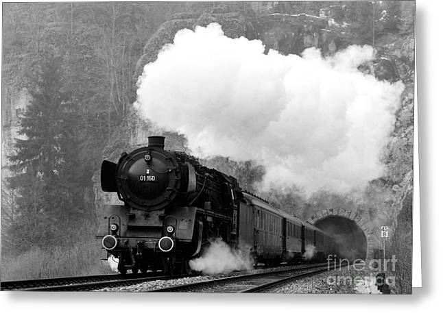 01 150 On Tracks In Franconia Greeting Card by Joachim Kraus
