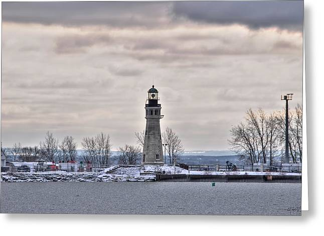 01 Winter Light House Greeting Card