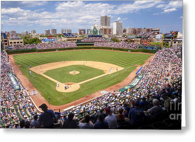 0100 Wrigley Field - Chicago Illinois Greeting Card
