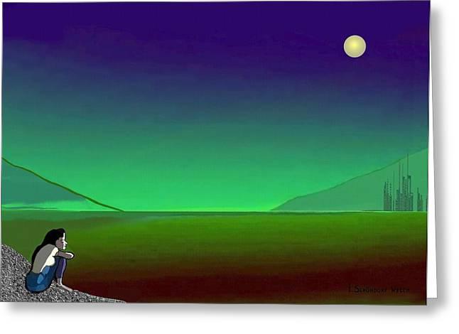 011 - Moon River Greeting Card