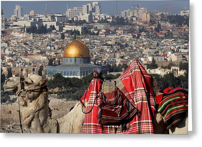 014 Jerusalem Greeting Card by Alex Kolomoisky