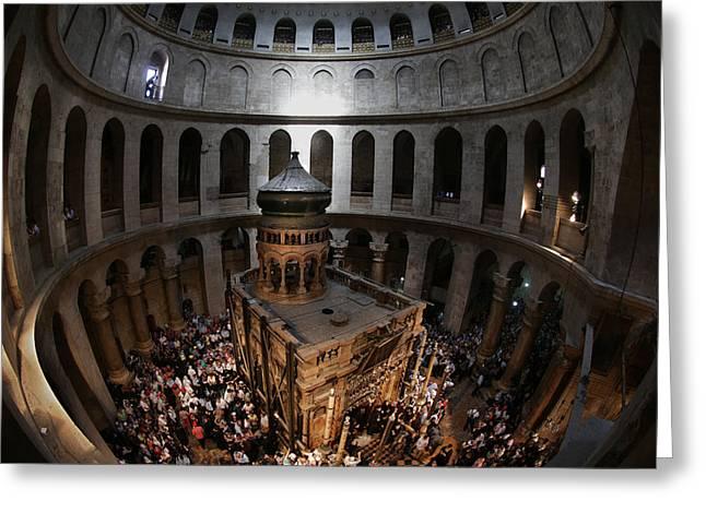 016 Jerusalem Greeting Card by Alex Kolomoisky