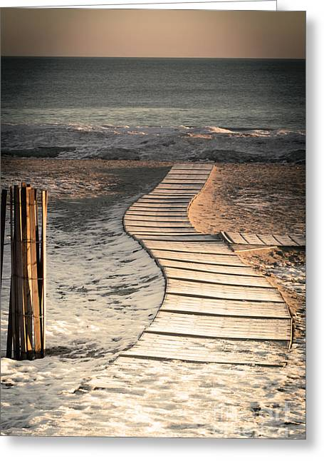 0160 Evanston Boardwalk Greeting Card