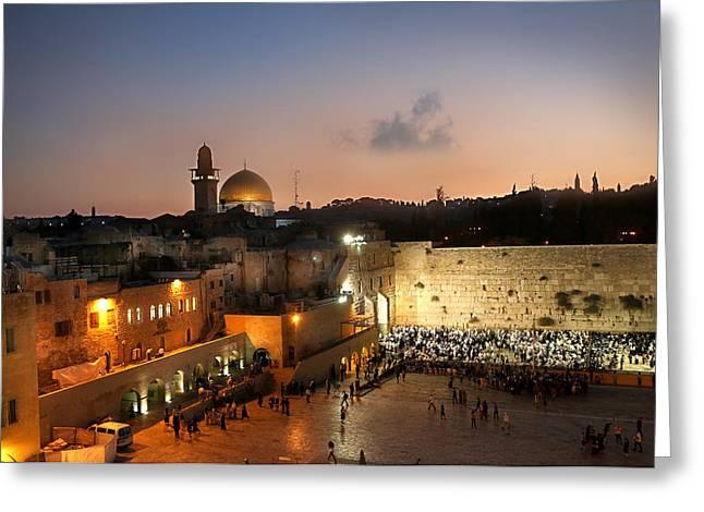 017 Jerusalem Greeting Card by Alex Kolomoisky