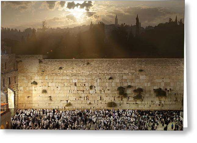 018 Jerusalem Greeting Card by Alex Kolomoisky