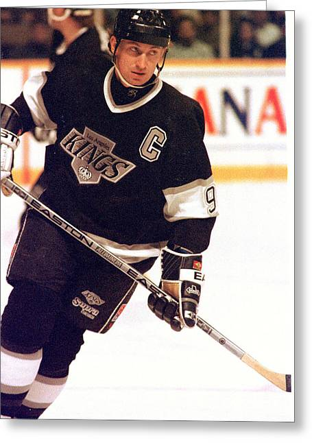 01.wayne Gretzky.la King.jpg Greeting Card