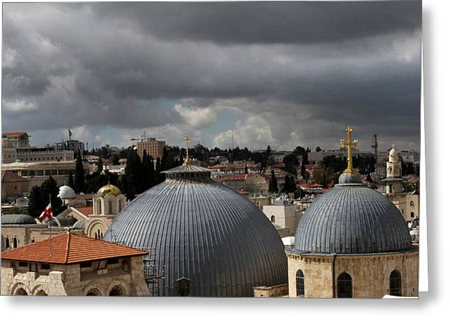 020 Jerusalem Greeting Card by Alex Kolomoisky
