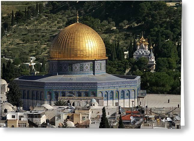 021 Jerusalem Greeting Card by Alex Kolomoisky