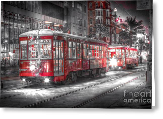 0271 Canal Street Trolley - New Orleans Greeting Card