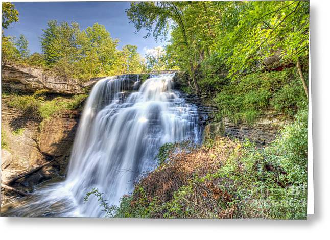 0302 Cuyahoga Valley National Park Brandywine Falls Greeting Card