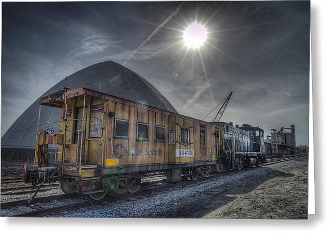 03.21.14 Csx Switcher - Co Caboose Greeting Card by Jim Pearson