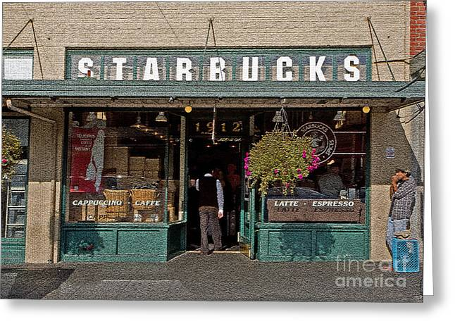 0370 First Starbucks Greeting Card