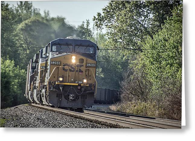 05.07.14 Csx Coal Train At Nortonville Ky Greeting Card by Jim Pearson