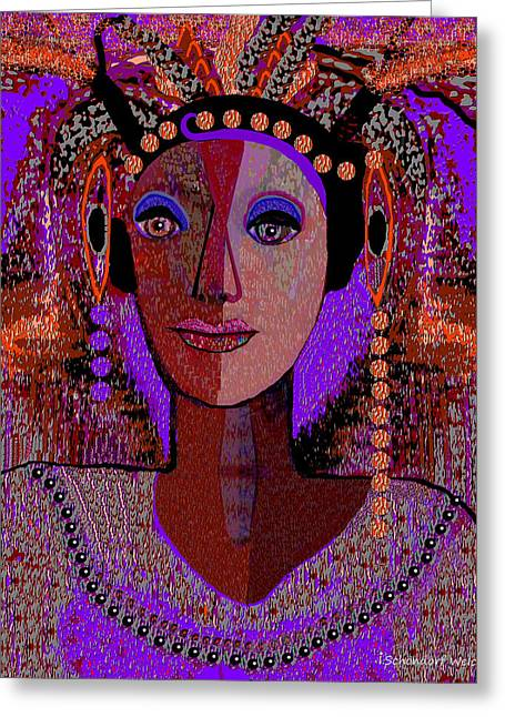 072 -  Exotic  Lady Violet   Greeting Card