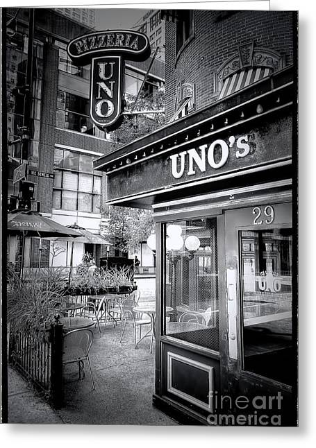 0748 Uno's Pizzaria Greeting Card