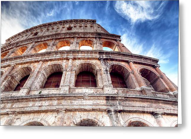 0796 Roman Colosseum Greeting Card by Steve Sturgill