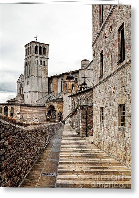 0799 Assisi Italy Greeting Card by Steve Sturgill