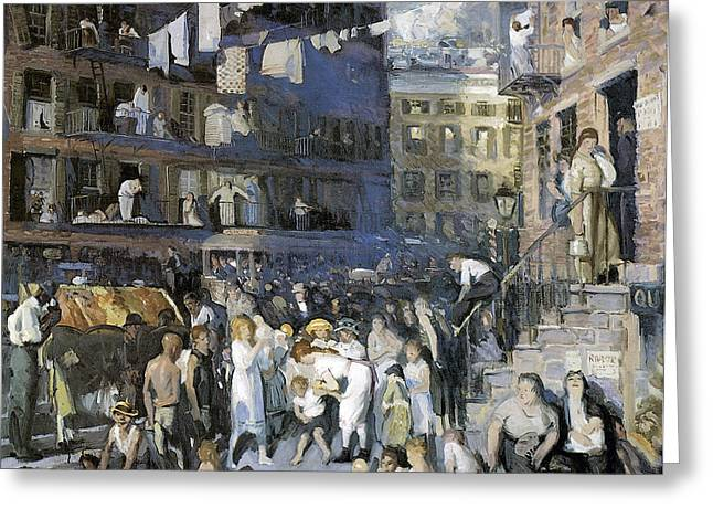 Cliff Dwellers New York City Greeting Card by George Wesley Bellows