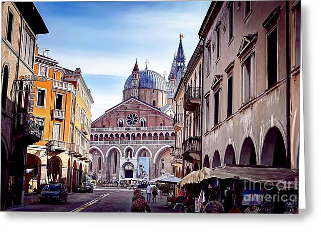 0803 Basilica Of Saint Anthony Of Padua Greeting Card by Steve Sturgill