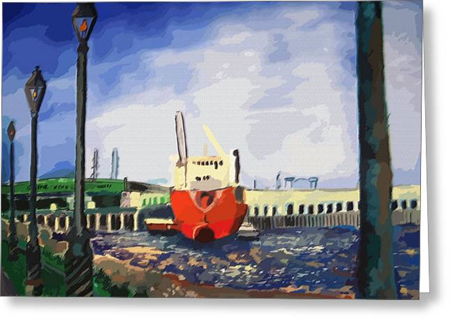 082014new Orleans Wharf Greeting Card