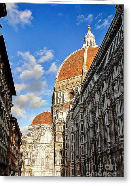 0821 The Basilica Of Santa Maria Del Fiore - Florence Italy Greeting Card by Steve Sturgill