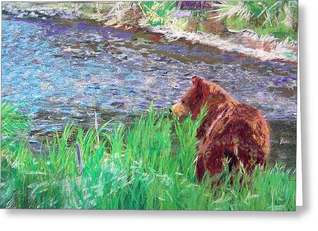 082714 Black Bear Pastel Greeting Card