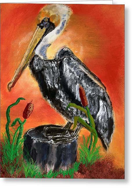 082914 Pelican Louisiana Pride Greeting Card