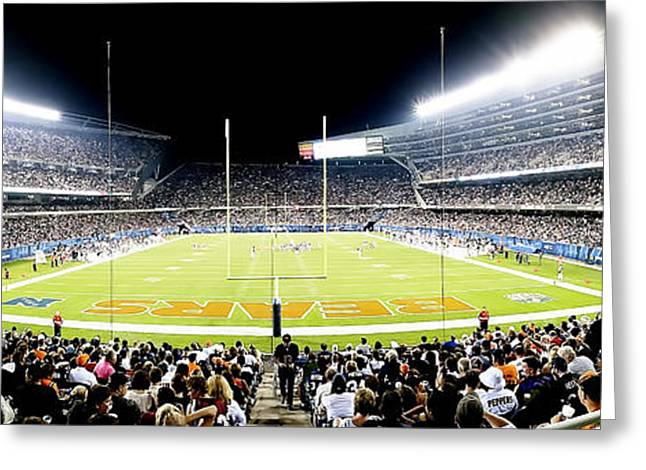 0856 Soldier Field Panoramic Greeting Card
