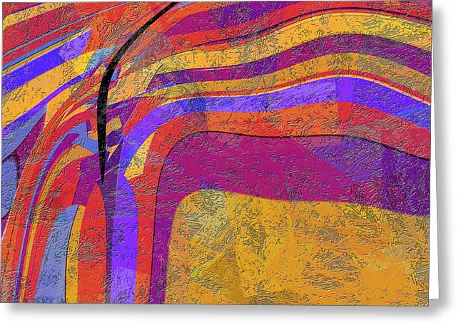 0871 Abstract Thought Greeting Card by Chowdary V Arikatla