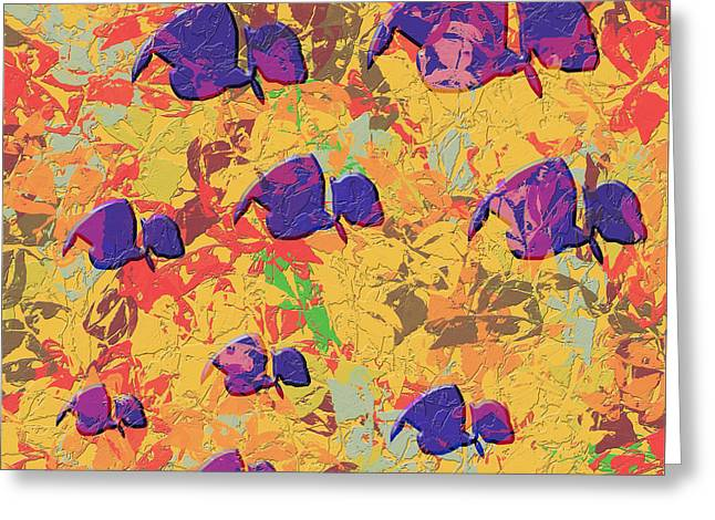 0886 Abstract Thought Greeting Card by Chowdary V Arikatla
