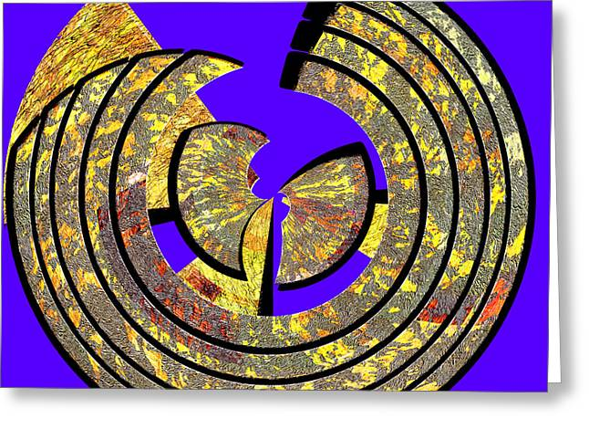 0985 Abstract Thought Greeting Card by Chowdary V Arikatla