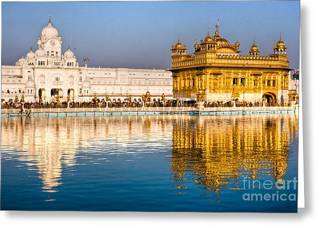 Golden Temple In Amritsar - Punjab - India Greeting Card