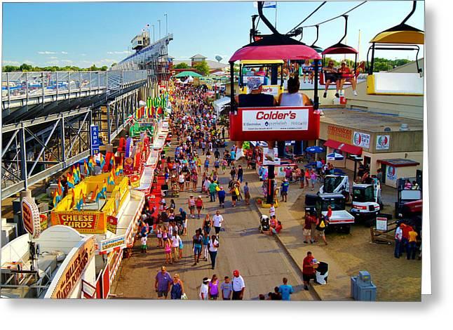 Wisconsin State Fair Milwaukee Wi Greeting Card by Carol Toepke