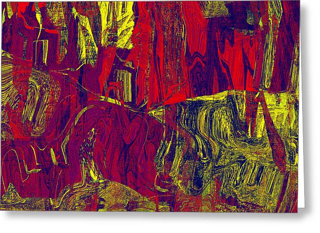 0479 Abstract Thought Greeting Card by Chowdary V Arikatla