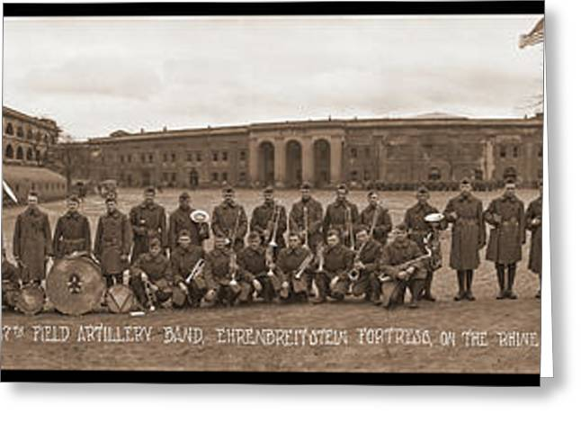 17th Field Artillery Band Greeting Card