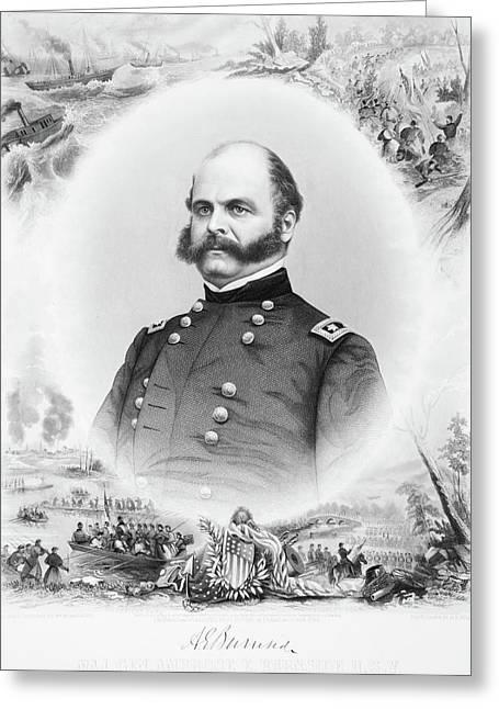 1800s 1860s Portrait Major General Greeting Card
