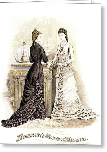 1800s 1870s Fashion Plate Summer Greeting Card
