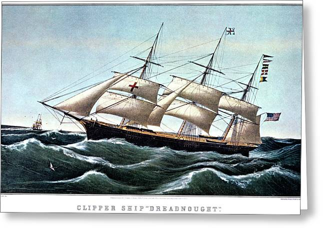1850s Clipper Ship Dreadnought Greeting Card