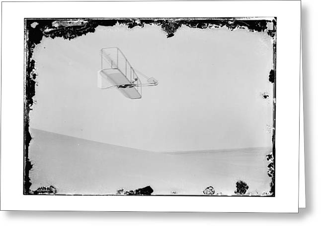 1902 Wilbur Wright Piloting Glider Greeting Card by MMG Archives