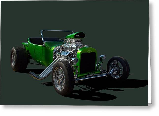 Greeting Card featuring the photograph 1923 Ford Bucket T Hot Rod by Tim McCullough
