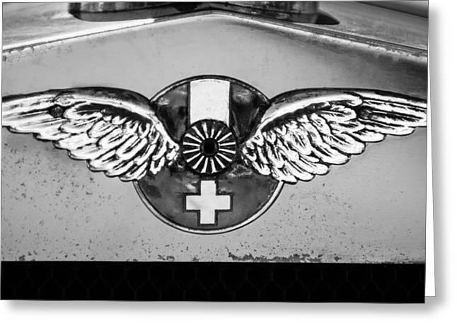 1926 Hispano-suiza H6b Torpedo Emblem Greeting Card by Jill Reger