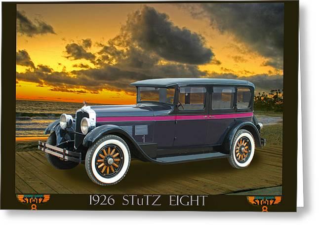 1926 Stutz Eight Sedan Greeting Card by Jack Pumphrey