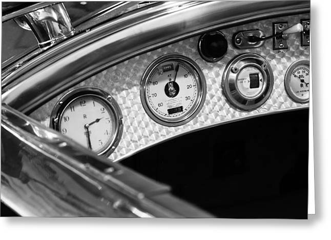1927 Rolls-royce Phantom I Tourer Dashboard Gauges Greeting Card