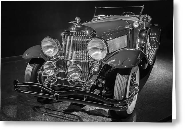 1929 Duesenberg Model J Greeting Card by Roger Mullenhour