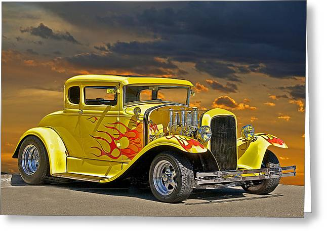 1930 Ford Model A Coupe Greeting Card by Dave Koontz