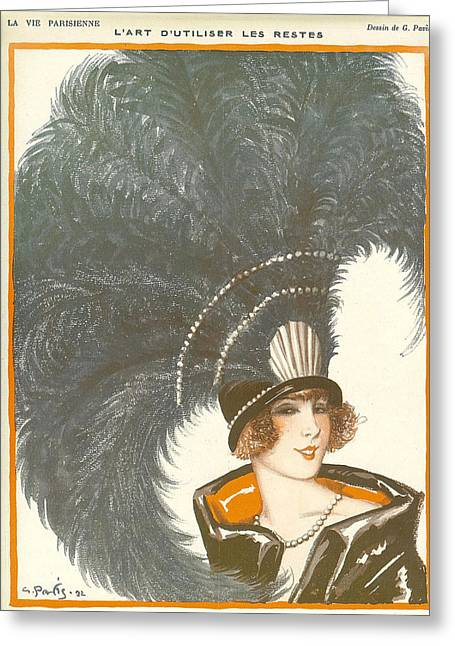 1930s France La Vie Parisienne Magazine Greeting Card by The Advertising Archives