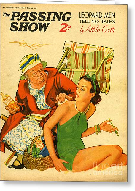 1930s Uk The Passing Show Magazine Cover Greeting Card