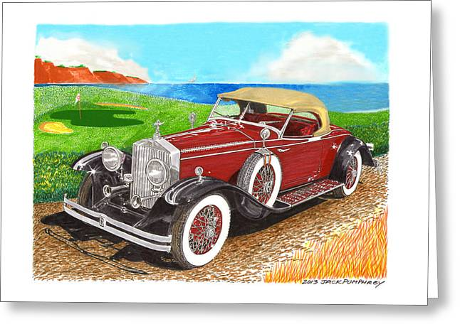 Rolls Royce Henley Roadster Greeting Card by Jack Pumphrey