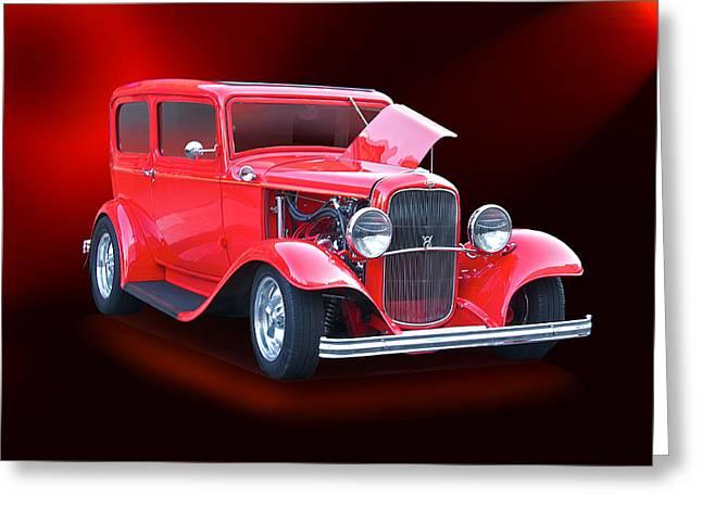 1932 Ford Tudor Sedan Greeting Card by Dave Koontz